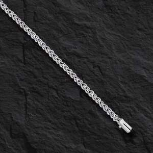 14k White Gold Two Strand Multi Line Rope Bracelet 8