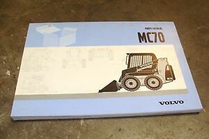 Volvo Construction Equipment Parts Catalog Model MC70 (OEM- Used) 64A9920024
