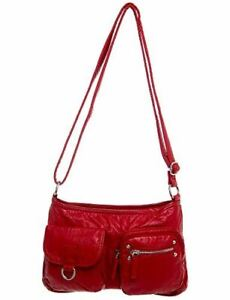 Soft Vegan Leather Handbag Crossbody