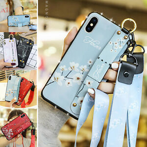 Marble Pattern Belt Loop Stand Ring Strap Case Cover For iPhone 12 11 Pro Max 8