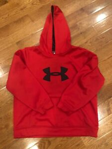 Under Armour Youth XL Extra Large Hoodie Red Black $14.00
