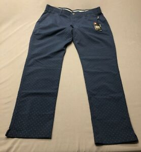 Under Armour Taper Dot Pattern Golf Pants (40 x 34 Navy Blue)(NWT) MSRP $90