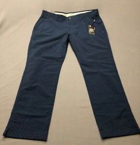 Under Armour Taper Dot Pattern Golf Pants (42 x 32 Navy Blue)(NWT) MSRP $90