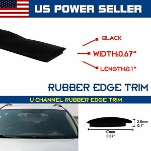 Car Front Rear Windshield Rubber Seal Sunroof Edge Guard Weather Strip By Yard