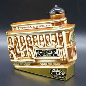 Trolley Car Decanter Ezra Brooks Whiskey Gold Label Powell amp; Hyde Heritage China