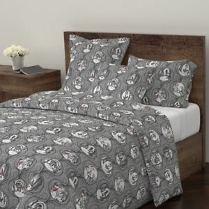 Wolf Forest Fairy Tale Folklore Gothic Halloween Sateen Duvet Cover by Roostery