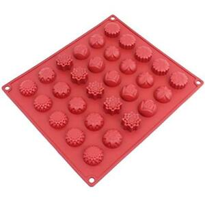 CB-120RD Candy & Chocolate 30-Cavity Silicone Flower Mold For Making Homemade