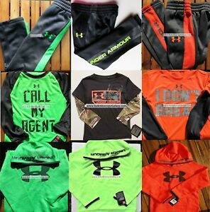 UNDER ARMOUR BOYS ~ Size 4 Track Pants ~ Size 5 Hoodies ~WINTER ~ NEW ~ 9pc $306