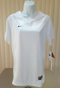 NWT NIKE FIT DRY Youth Girls Athletic White Shirt Size XL Retail $50.00