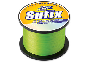 Sufix Superior Monofilament Fishing Line 20 Lb. 670 Yds Hi Vis Yellow