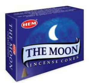 Hem The Moon Incense Cones With extra Gift Premium Cones Brand New Box of 10