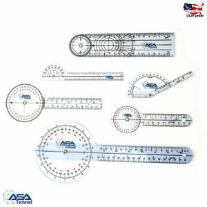 6pc 360° 12 8 6 Inch Medical Spinal Goniometer Angle Protractor Physical Therapy $9.99