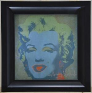 "Framed. Andy Warhol ""Marilyn Monroe"" Great Print from 1982.  Green-Blue-Green"