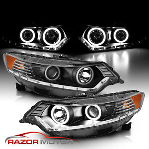 Dual LED Halo 2009 2010 2011 2012 2013 2014 For Acura TSX Projector Headlights $359.39