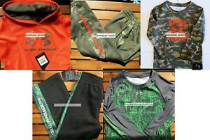 BOYS 4T UNDER ARMOUR TRACK PANTS ~ HOODIE ~ CAMO REALTREE ~ NWT $163