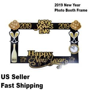 Picture Frame Happy New Years Eve Photo Booth Props for 2019 Party Decorations