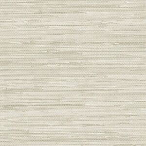 Faux Grasscloth Pattern Wallpaper NT33708 beige solid vinyl scrubbable prepasted