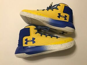 NEW Under Armour Boys Girls UA Steph Curry Basketball Shoes Yellow Sz 7 $100