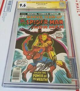 Marvel Team-Up #49 SS: Stan Lee  DOUBLE SIGNED & only 1  CGC 9.6 OW-WP