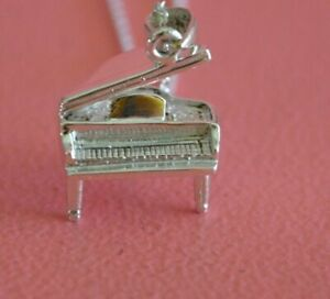 925 Sterling Silver Musical Piano Charm Necklace - Piano Pendant Necklace