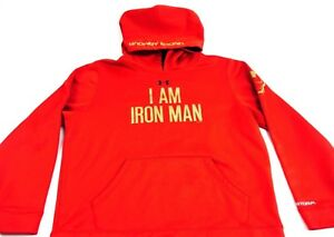 Under Armour Hoodie Iron Man Black Sabbath Marvel Comics Athletic Wear Youth XL