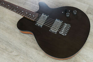 Porter Guitars Les Bois Custom Electric Guitar Roasted Neck Satin Trans Black