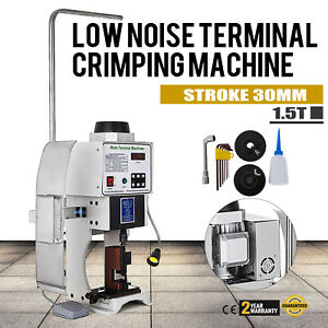 1.5T Super Mute Terminal Wire Crimping Machine With OTP Single Mold 110V