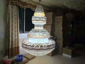 Modern LED chandeliers villa stairs engineering lights hotel lobby crystal lamps