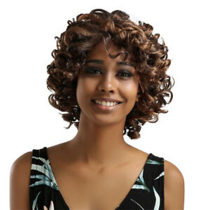 14inch Short Afro Kinky Curly Hair Wigs For Black Beauty Women's African Wig