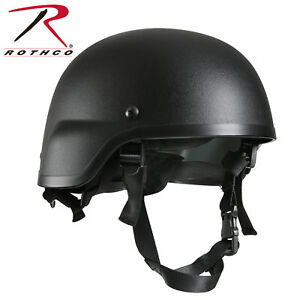 Rothco GI Style Military ABS Plastic MICH-2000 Tactical Helmet & Strap- BLACK