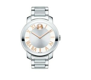 NWT MOVADO BOLD Women's Watch Silver SS Bracelet Museum 38MM. SWISS 3600196 $495