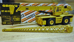 NZG W.Germany Diecast - GROVE Heavy Duty Truck Construction Crane RT4550 in Box