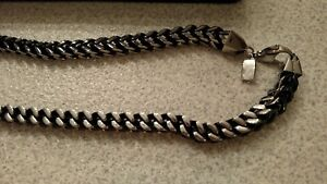 Men's Stainless Steel Black and Stainless Shaquille O'Neil necklace REDUCED!