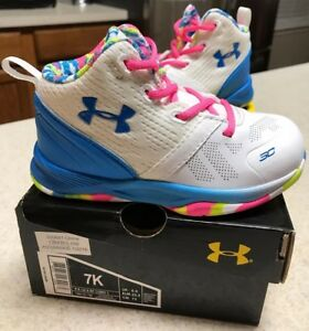 Toddler Girl's Under Armour Steph Curry 2 Basketball Shoes Kids Size 7K7C