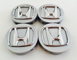 SET of 4 Honda Silver Center Caps 2 3/4
