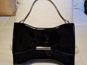 Alexander McQueen large black patent leather handbag $2800 value!