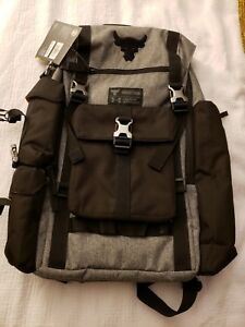 New Under Armour Project Rock Regiment Backpack Bag Gray Rare