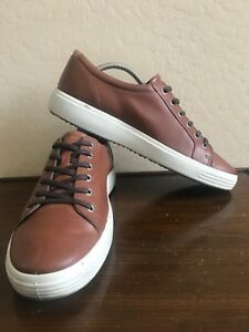 ECCO Danish Design Brown Leather Casual Sneakers Men's Shoes 45  11 - 11.5