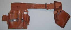 AWP HP- Construction Drywall-Carpenter-  XL Pocket Saddle Leather Tool Belt