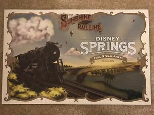 Walt Disney World Disney Springs Lithograph. Exclusive Limited Edition $19.99