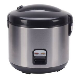 Rice Cooker 10-Cup 3-dimensional Heating Sides Bottom Durable Construction