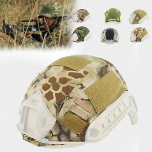 9DE6 Tactical Military Fast Helmet Cover Hunting Paintball Headgear Camouflage