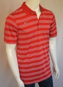 NIKE Better World Game Time Polo Shirt Dry Fit Men's SZ XLARGE in University Red