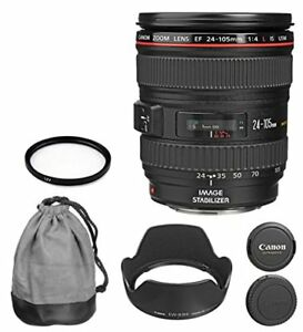 Canon EF 24 - 105 mm f  4 l is USM zoom lens white box for Canon EOS 7 d 60 d