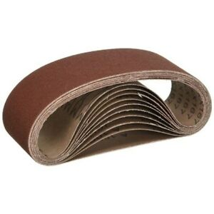 Aluminum Oxide Sanding Belt 4 x 24 In 150 Grit 100 Pack Power Sander Parts New