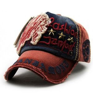 Antique Style Baseball Cap Cotton Outdoor Adjustable Snapback Embroidery Letter