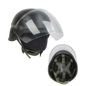 Tactical Airsoft Outdoor M88 PASGT Kelver Swat Helmet With Clear Visor Paintball