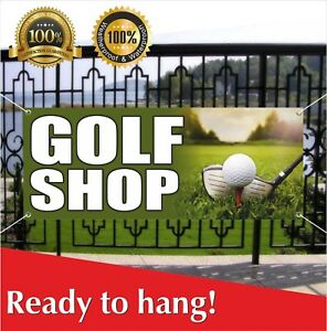 GOLF SHOP Banner Vinyl  Mesh Banner Sign Flag Ball Club Bags Clothes Many Sizes