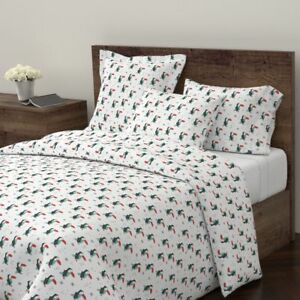 Toucan Animals Penguin Winter Tropical Summer Sateen Duvet Cover by Roostery