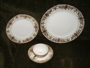 Antique NORITAKE #43061 = Nearly Complete Service for 12 (Over 100 years old)